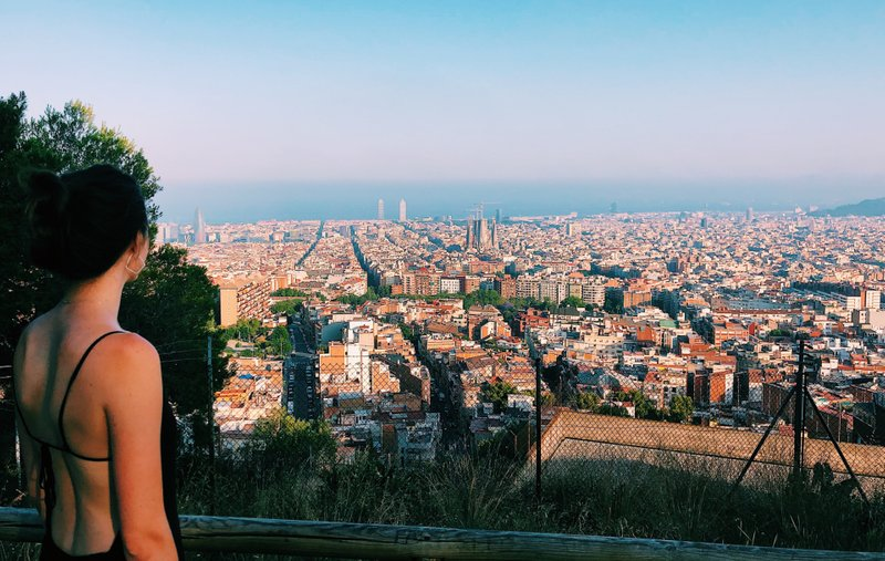 View from midway up the Bunkers hill, Barcelona