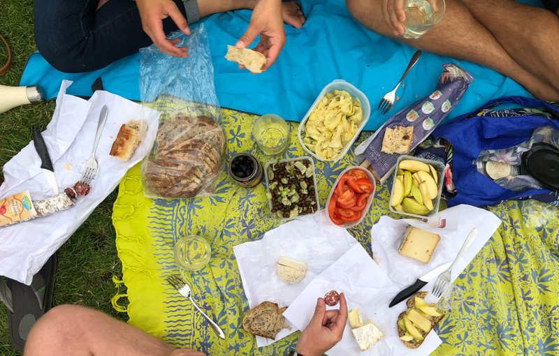 Night one with our friends — executing a proper Parisian picnic