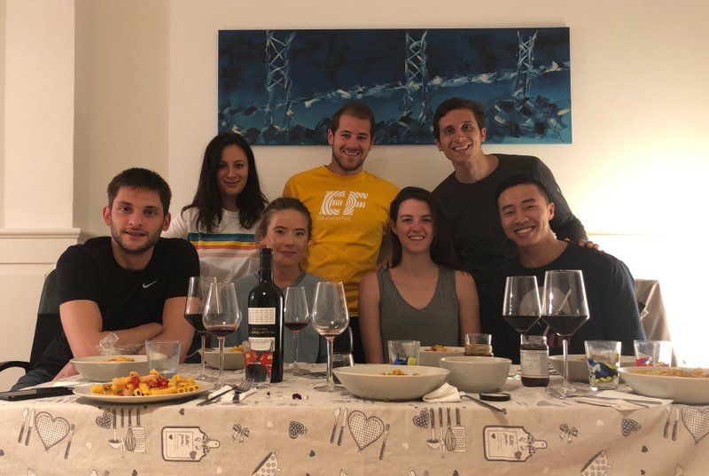 Dinner with the Italians - an absolute treat!