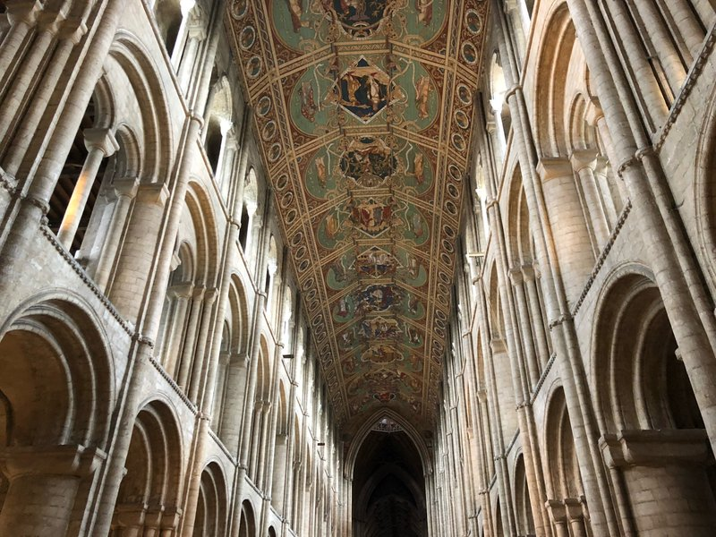 The inside of the Ely Cathedral features a stained glass museum, a verifiable Banksy, and more than a millennia of history