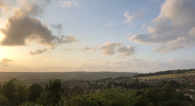 The views from Stroud, in the Cotswolds