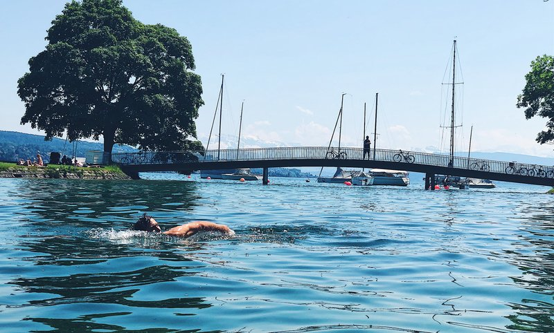 Swimming in Lake Zurich