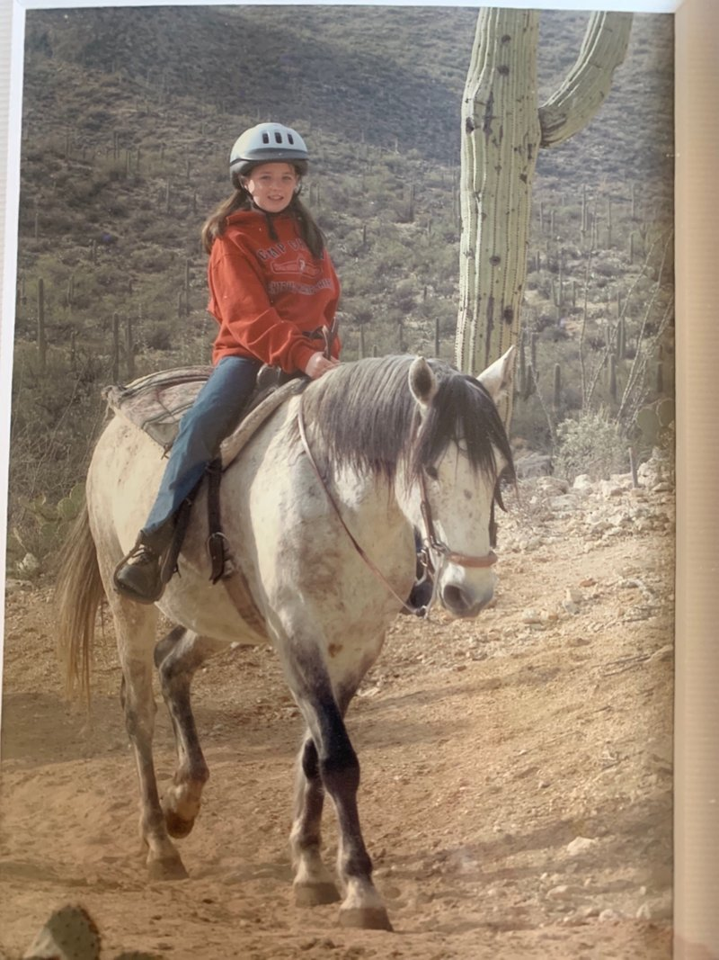 It's me!  I forgot - Arizona is where I fell in love with horses