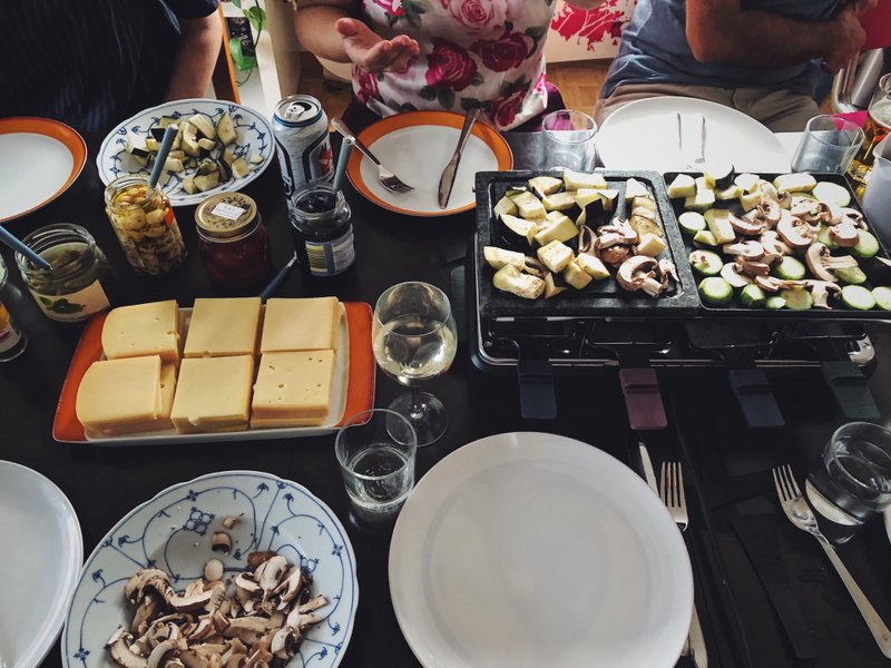 """Summer raclette"" - a full spread!"