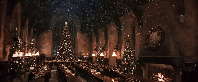 Somehow whenever I think of Harry Potter and Hogwarts, I think of Christmas