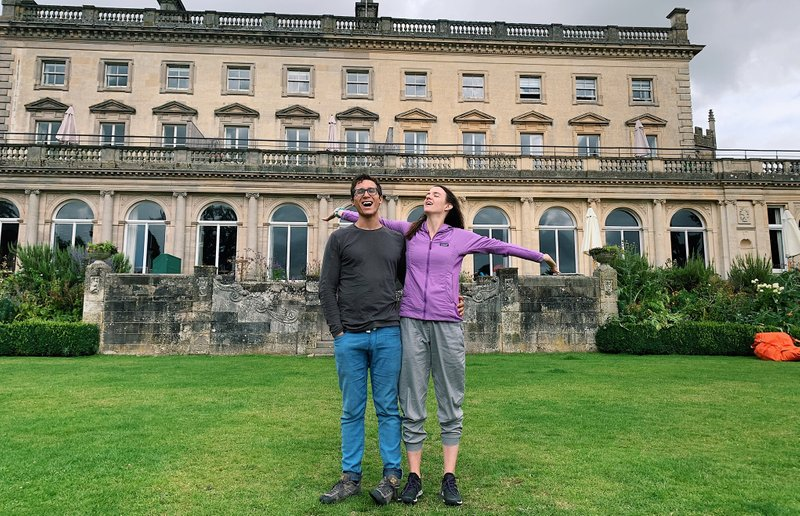 Shortly after this photo at Cowley Manor, it poured outside as we enjoyed our first cream tea
