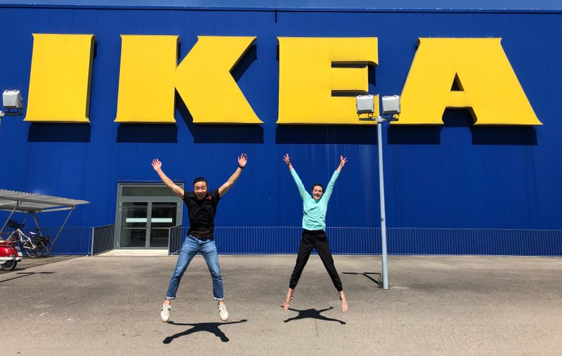 Probably not the first time star jumps and IKEA have gone together