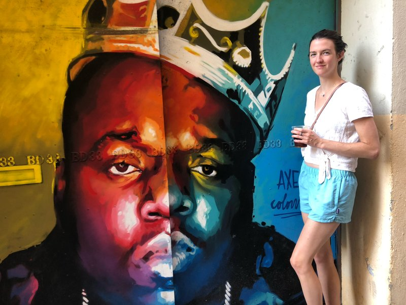Sheila, ft. Biggie Smalls via Gracia street art