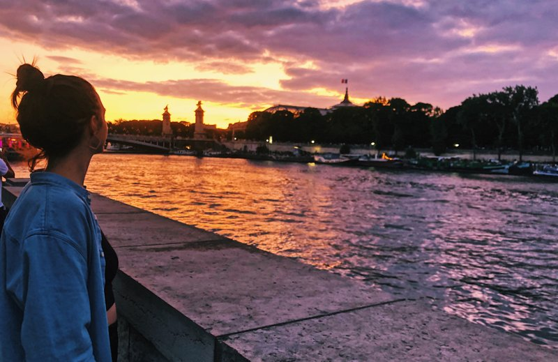 Sunsets on the Seine