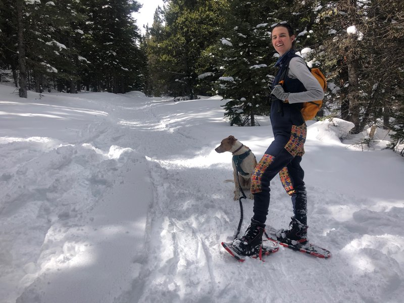 We've gone snowshoeing in Eldora a few times now, and have really been enjoying it. We like to think Buckwheat likes it too!